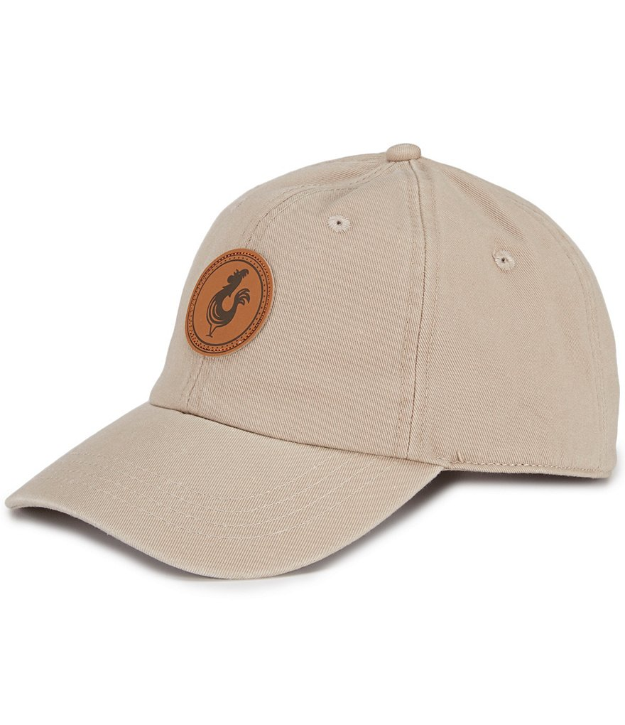 Fripp & Folly Faux-Leather-Patch Cap