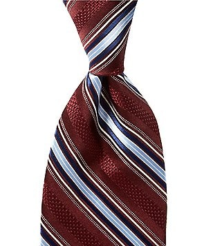 Hart Schaffner Marx Sherman Stripe Traditional Silk Tie