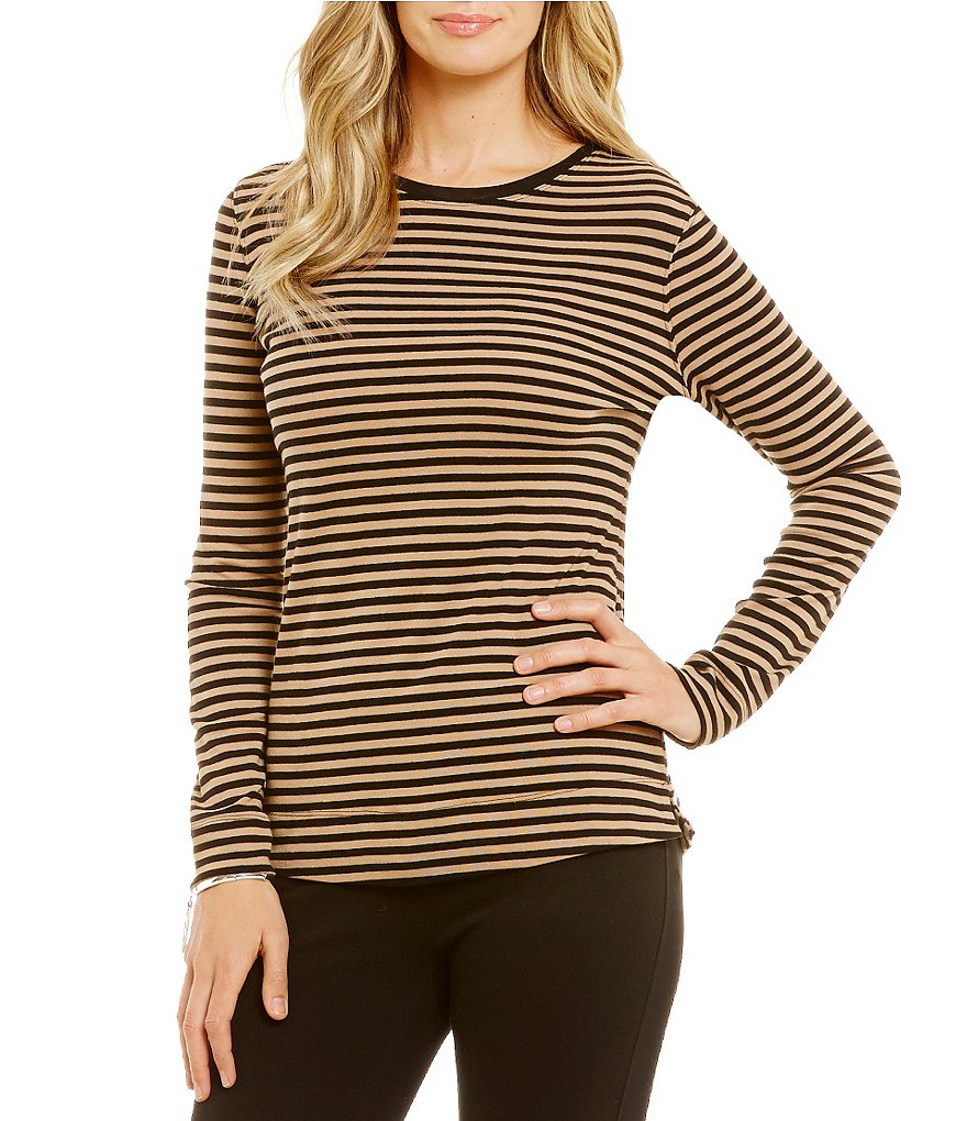 Westbound Rib Long Sleeve Crew Neck Tee