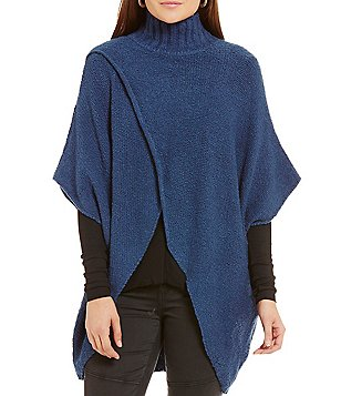 ELAN Criss Cross Slouchy Sweater Poncho