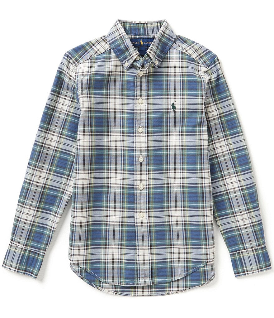 Ralph Lauren Childrenswear Little Boys 2T-7 Plaid Poplin Shirt