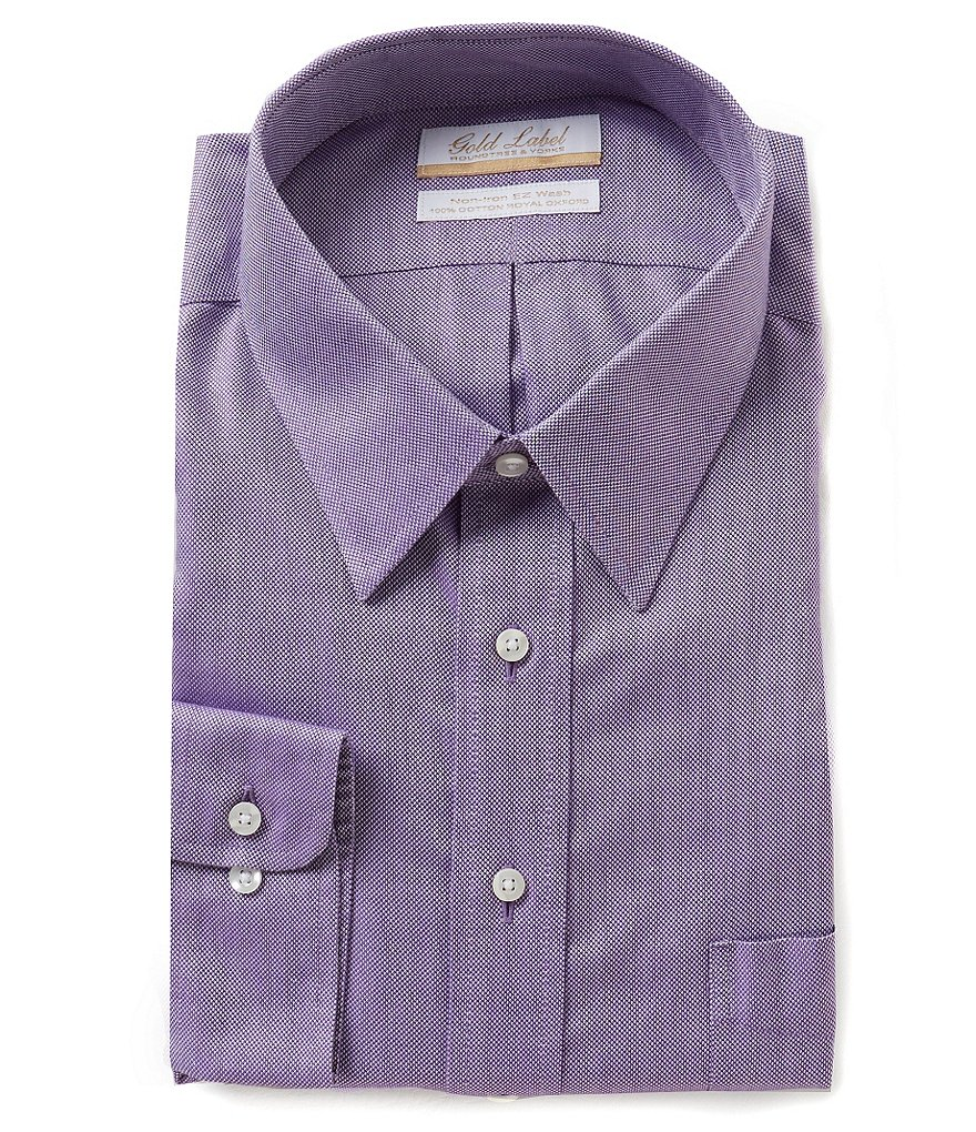 Gold Label Roundtree & Yorke Non-Iron Slim-Fit Point-Collar Royal Oxford Dress Shirt