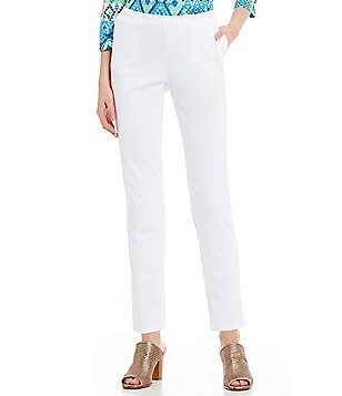 Ruby Rd. Pull-On Straight Leg Stretch French Terry Pants