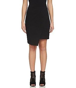 1. STATE Asymmetrical Cross-Front Pencil Skirt