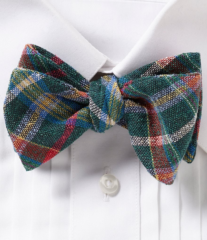 Ted Baker London Aberdeen Plaid Silk Bow Tie