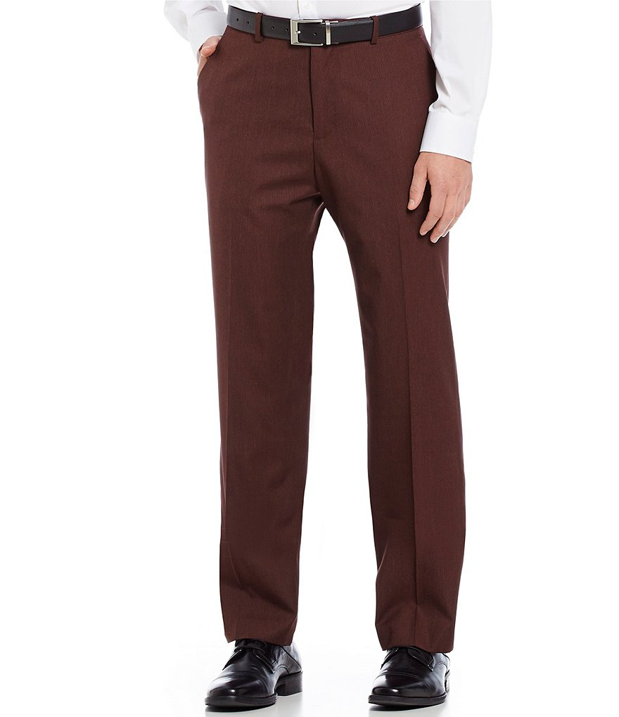 Perry Ellis Non-Iron Straight-Fit Flat-Front Micro-Stripe Pants