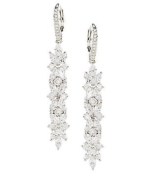 Nadri Faerie Cubic Zirconia Linear Earrings