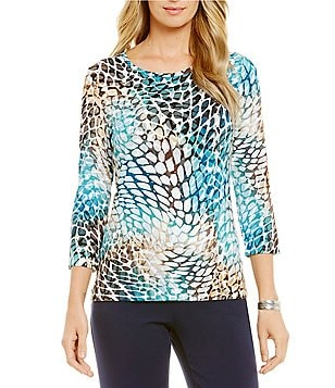Investments Petite Essentials 3/4 Sleeve Top