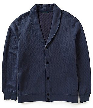 Perry Ellis Long-Sleeve Pattern Shawl Cardigan