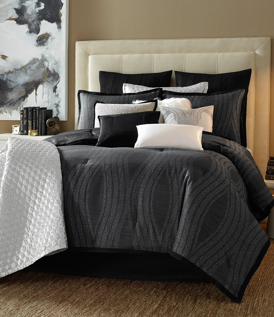 candice OLSON Freefall Ogee Jacquard Comforter Set