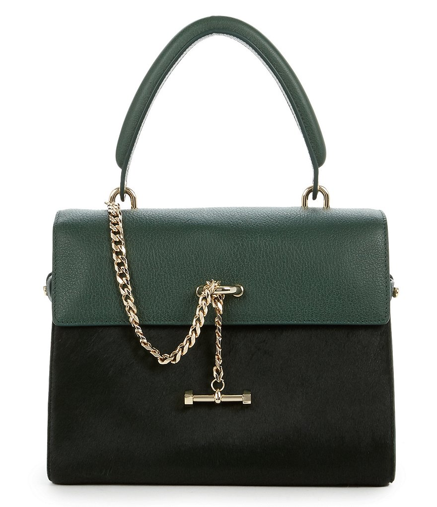Luana Italy Paley Haircalf Mini Satchel