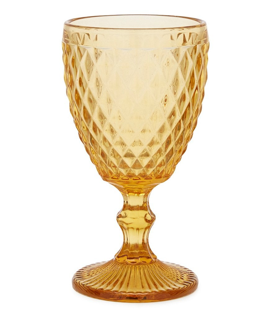 Southern Living Diamond-Cut Red Wine Glass