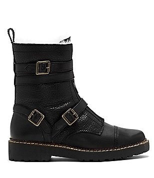 Arturo Chiang Pelli Wool Trimmed Boots