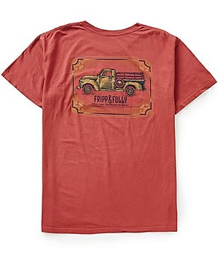 Fripp & Folly Men´s Backroads Truck Short-Sleeve Graphic Pocket Tee