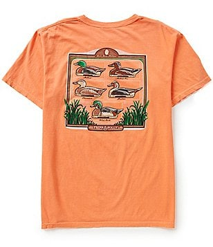 Fripp & Folly Men´s Duck Decoys Short-Sleeve Graphic Pocket Tee
