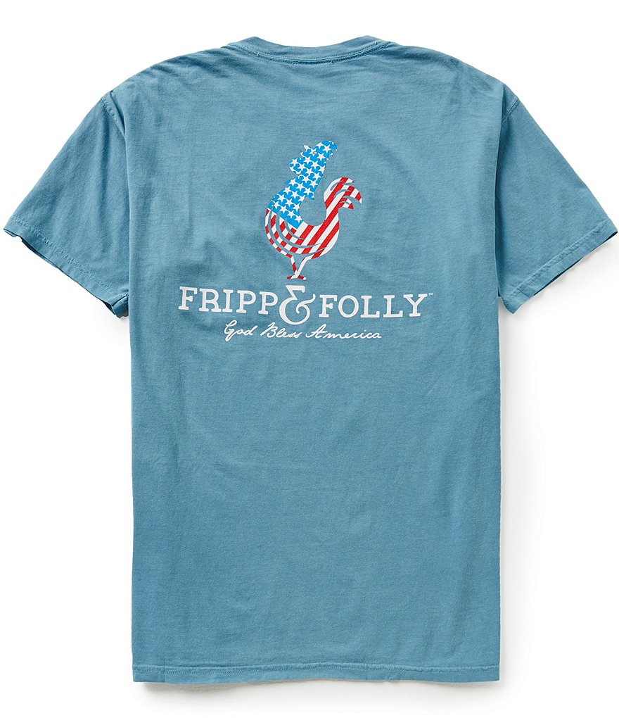 Fripp & Folly Men´s America Logo Short-Sleeve Graphic Pocket Tee
