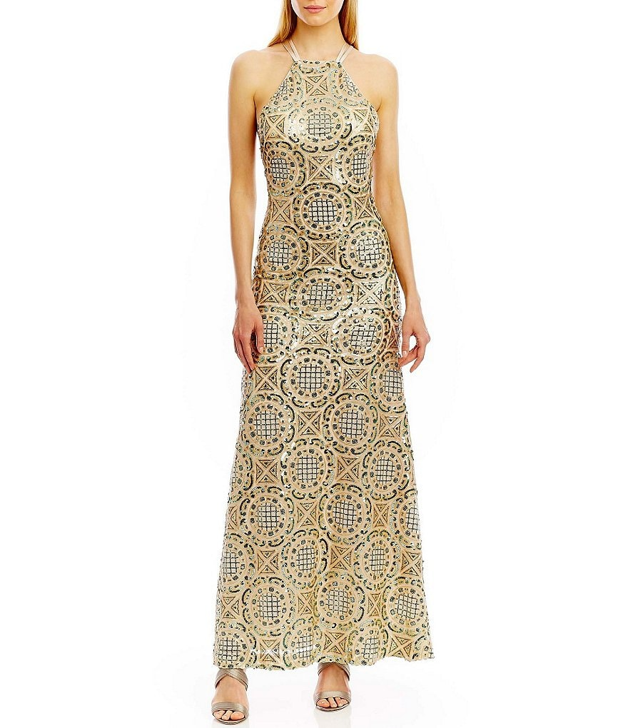 Nicole Miller New York Sequin Gown