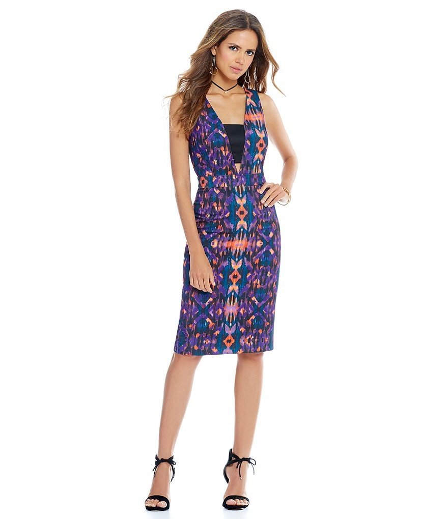 Gianni Bini Tracey Sleeveless Print Slim Dress