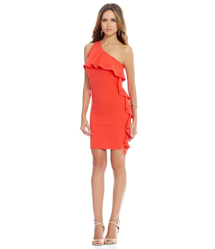 Gianni Bini Rohany One Shoulder Ruffle Sheath Dress