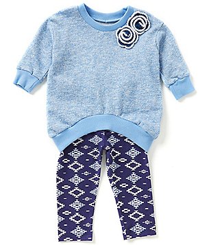Pippa & Julie Baby Girls 12-24 Months Tunic & Printed Leggings Set