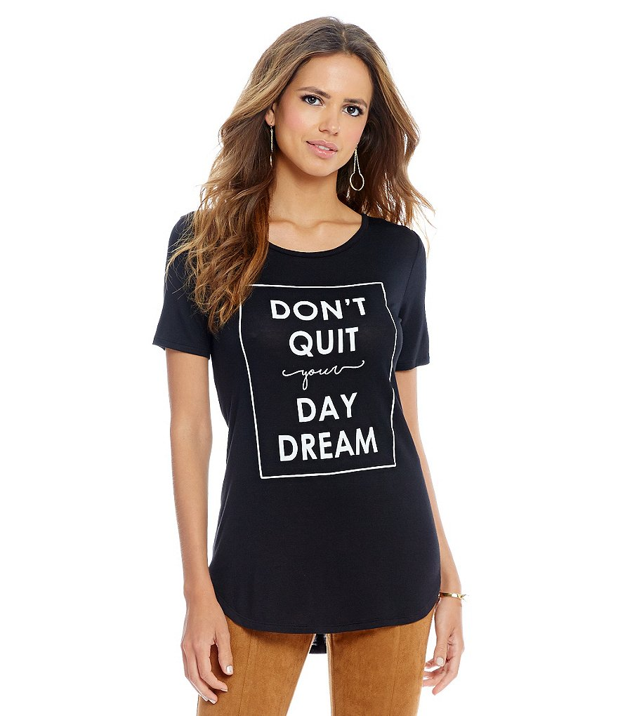 Gianni Bini Dreamer Screen Print Tee