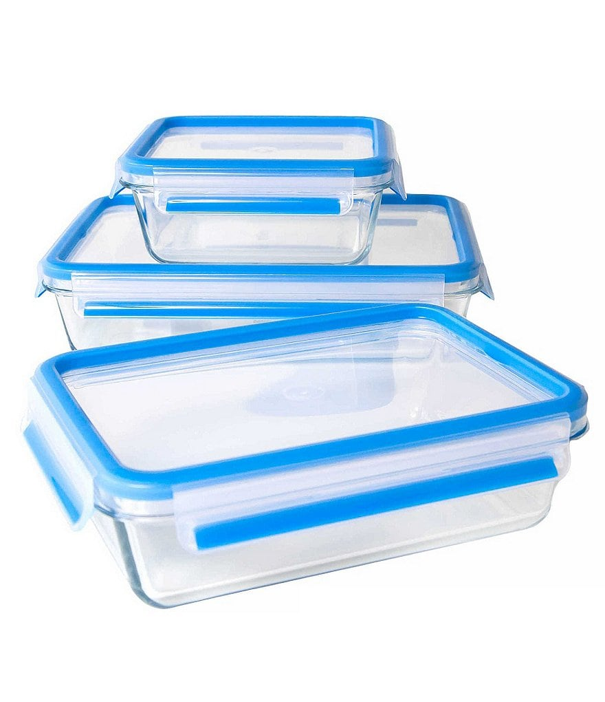 Zyliss Fresh 6-Piece Glass Food Storage Container Set
