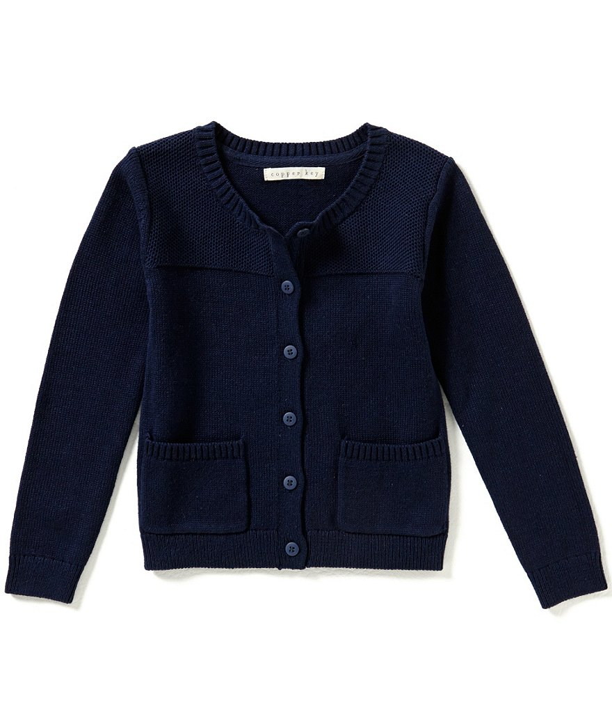 Copper Key Little Girls 2T-6X Button-Front Cardigan