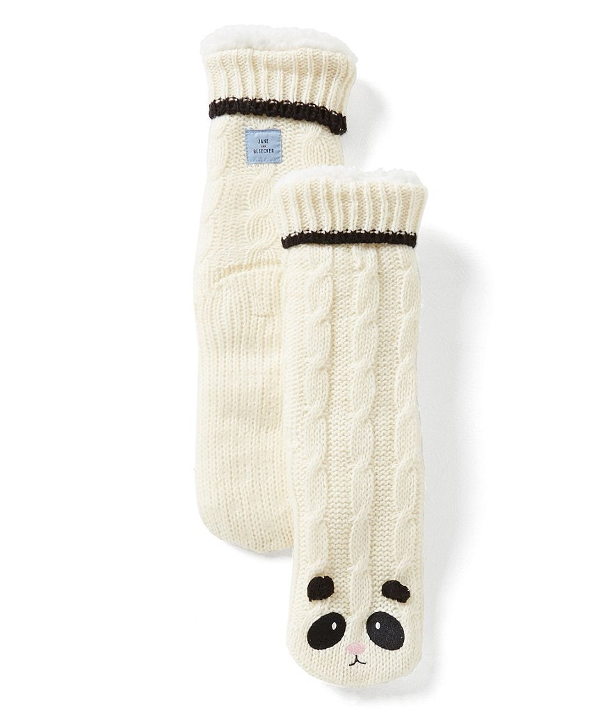 Jane & Bleecker Panda Critter Slipper Socks