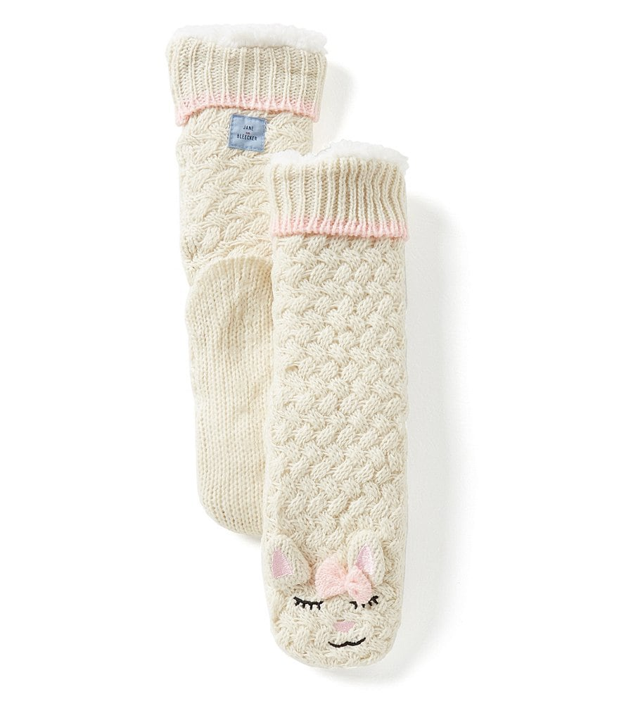 Jane & Bleecker Cat Critter Slipper Socks