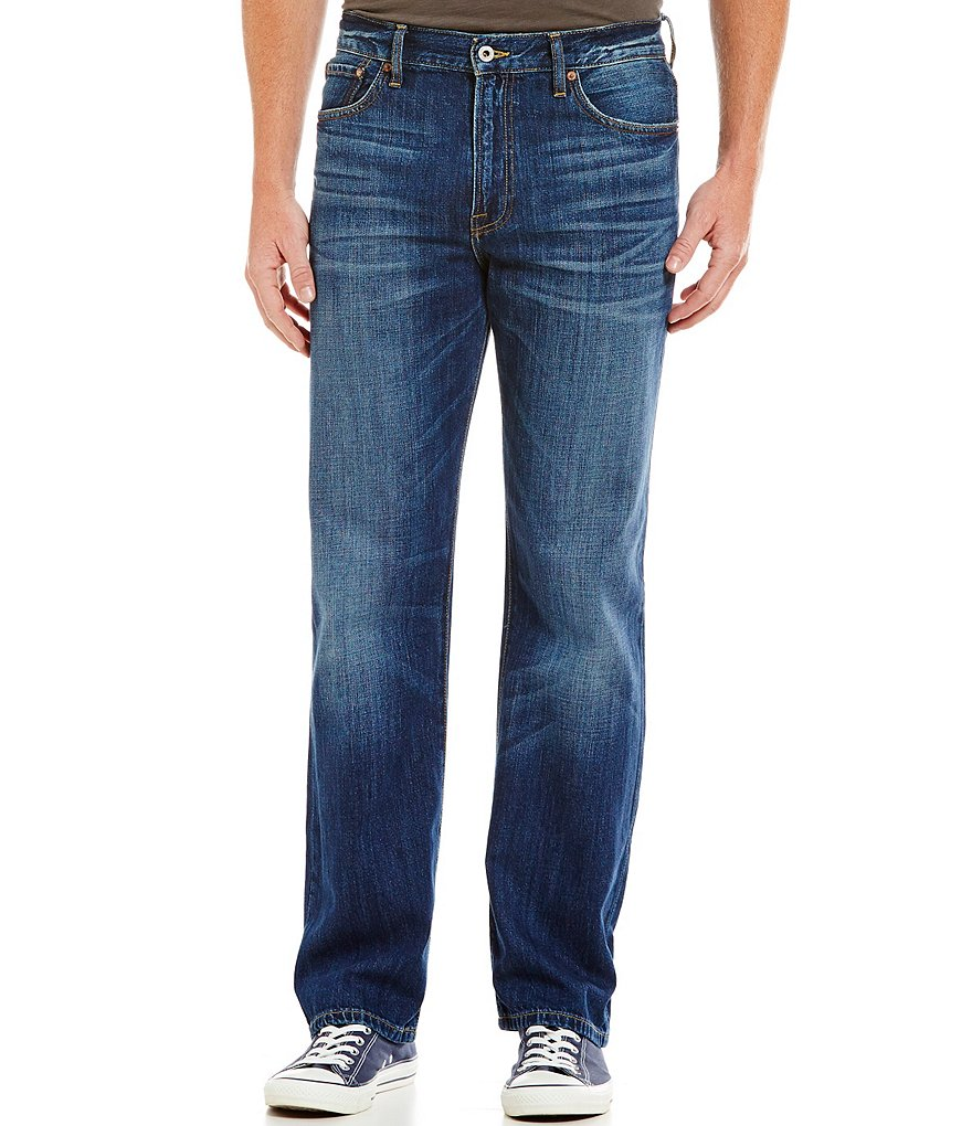 Lucky Brand 329 Classic Straight Whiskered and Faded Jeans