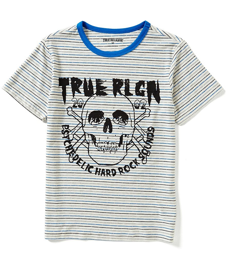 True Religion Big Boys 8-20 Short-Sleeve Hardcore Striped Graphic Tee