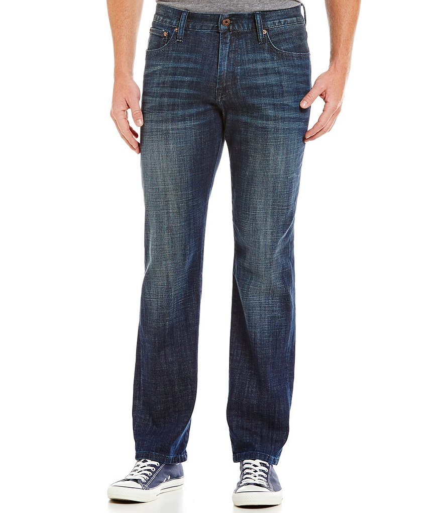 Lucky Brand 221 Original-Fit Straight Faded-Detailed Jeans