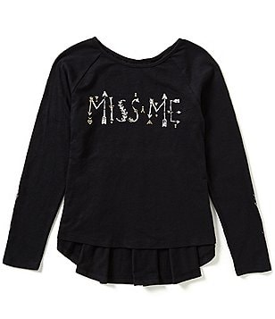 Miss Me Big Girls 7-16 Logo High-Low Top