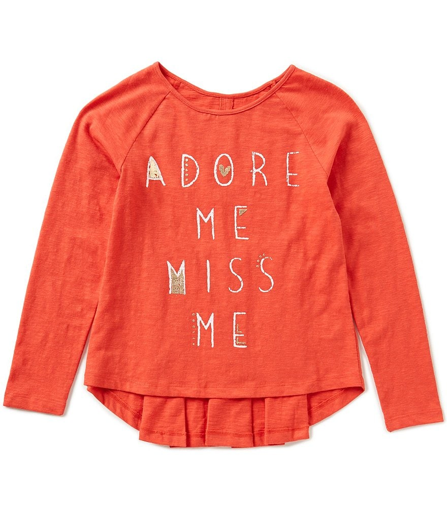 Miss Me Big Girls 7-16 Adore Me High-Low Top