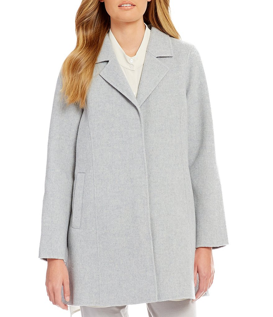 Eileen Fisher Notch Collar Swing Coat