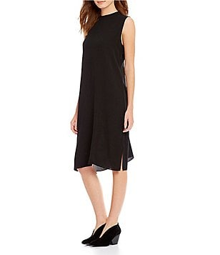 Eileen Fisher High Neck Kimono Dress