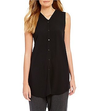 Eileen Fisher V-Neck Sleeveless Shirt