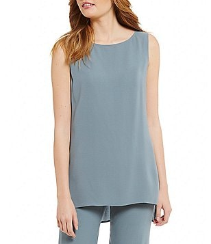 Eileen Fisher Bateau Neck Long Shell