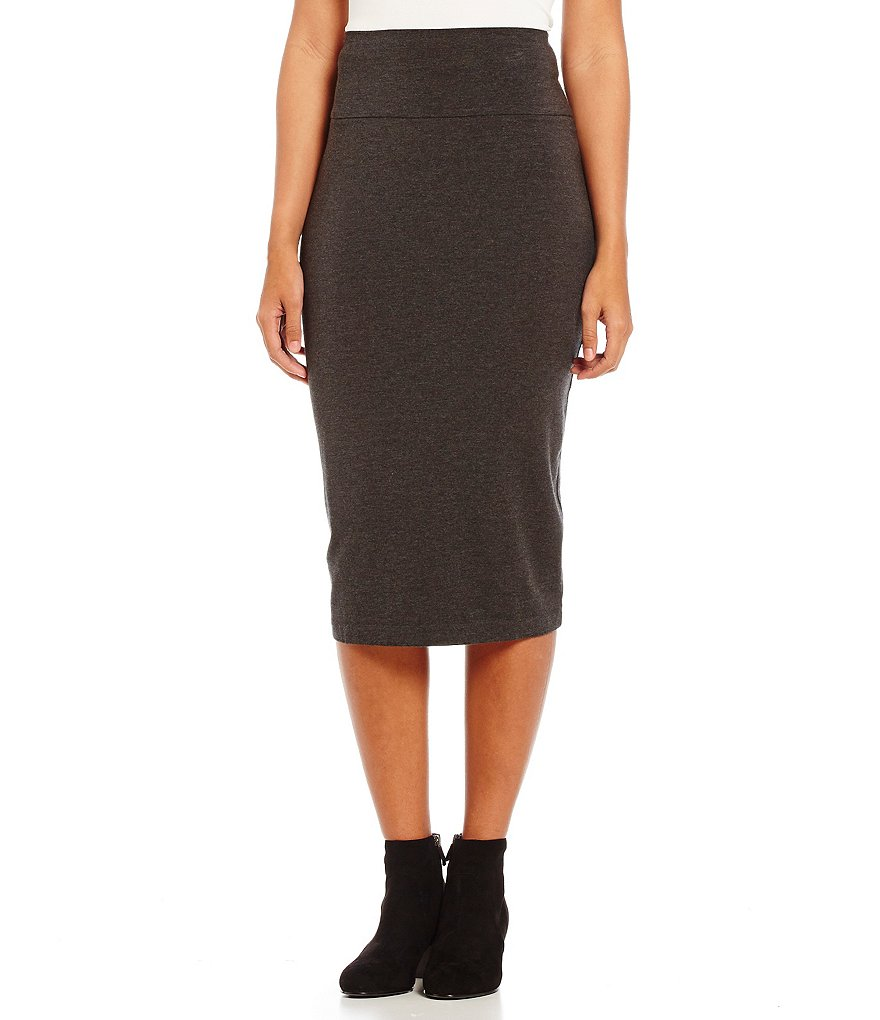 Eileen Fisher Foldover Pencil Midi Skirt