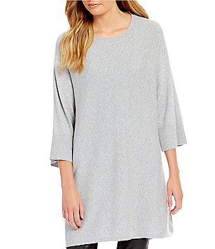 Eileen Fisher Round Neck 3/4 Sleeves Tunic