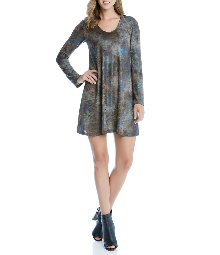 Karen Kane Textured Taylor Long Sleeve Knit Dress