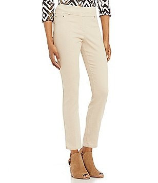 Ruby Rd. Petites Pull-On Extra Stretch Denim Ankle Pants