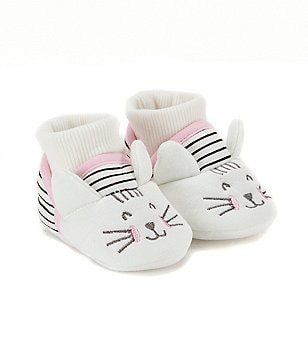 Joules Baby Girls Newborn-18 Months Cat Character Slippers