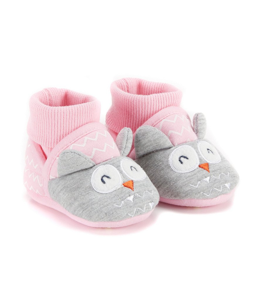 Joules Baby Girls Newborn-18 Months Owl Character Slippers