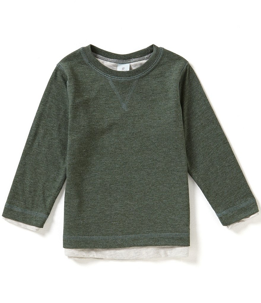 Class Club Little Boys 2T-7 Reversible Long-Sleeve Crew Tee