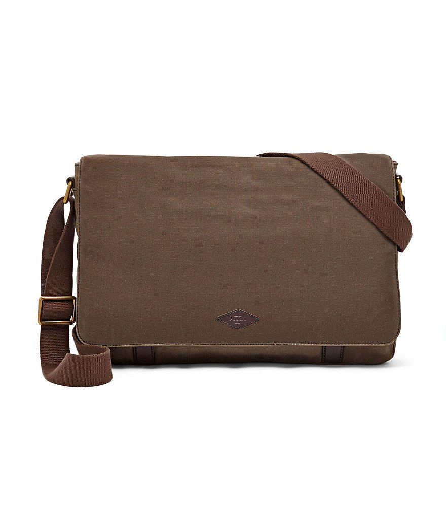 Fossil Aiden Canvas Messenger Bag