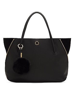 Louise et Cie Elin Tote with Fur Pom