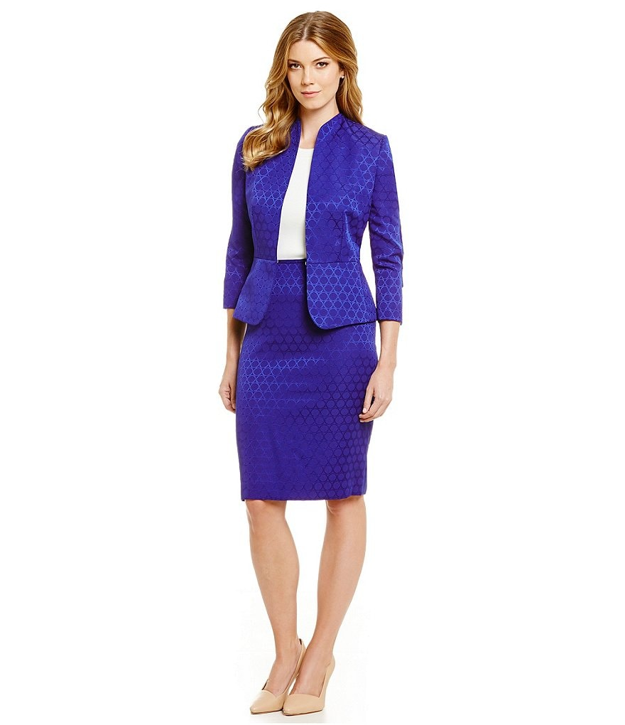 Preston & York Mays Jacquard Suiting Jacket & Kelly Jacquard Suiting Pencil Skirt