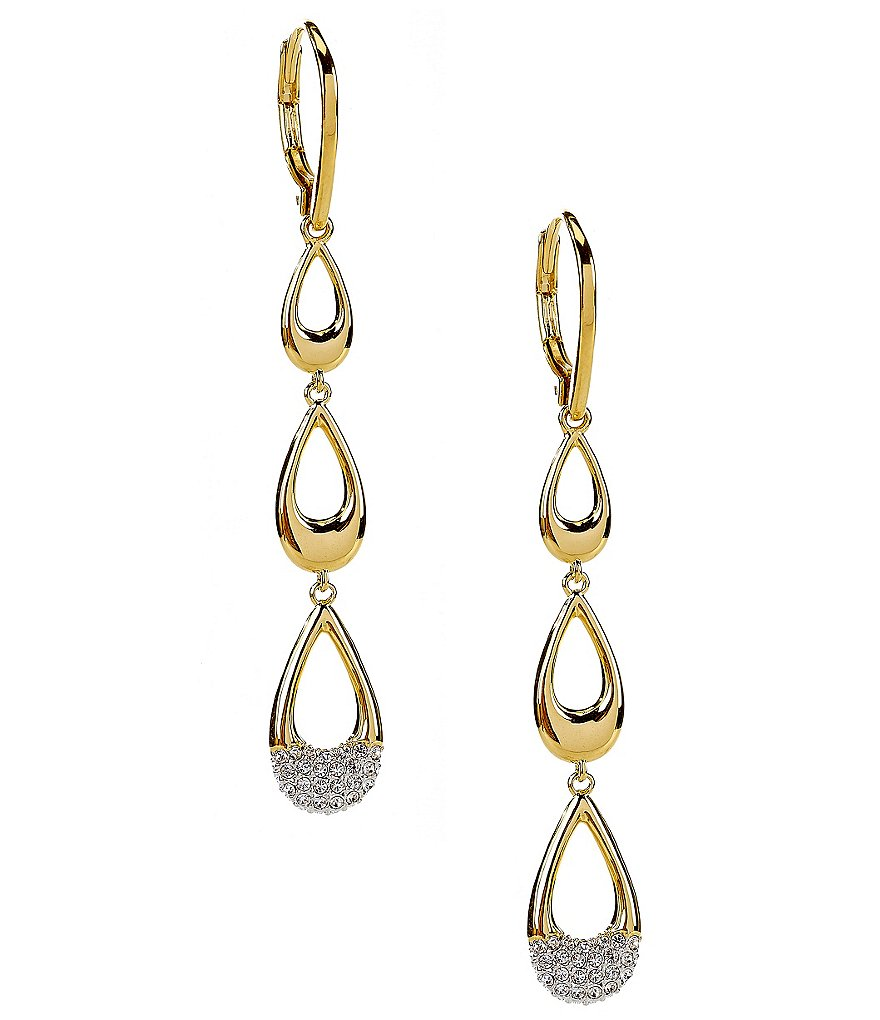 Nadri Triple-Teardrop Earrings