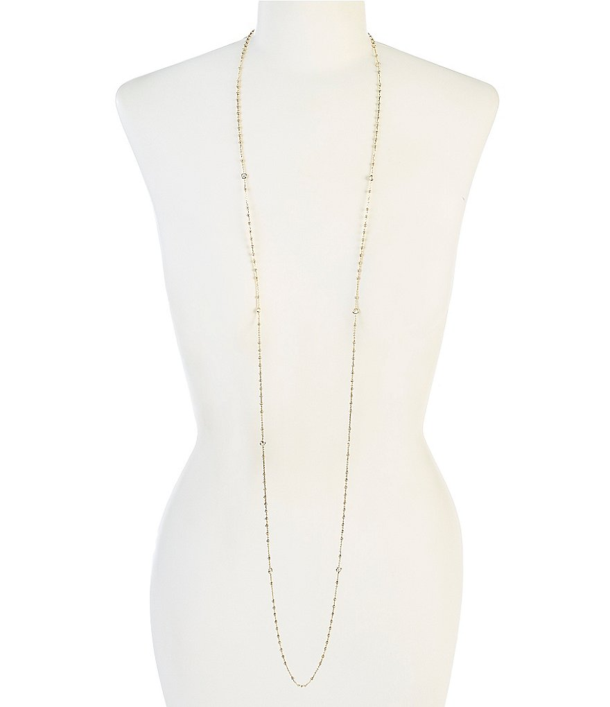 Nadri Cubic Zirconia Long Necklace
